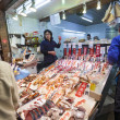 Fish Stall at Nishiki Market, Kyoto — Stock Photo