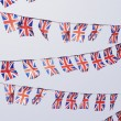 Rows of UK Union Flag Bunting — Stock Photo