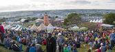 Glastonbury Festival Site — Stock Photo