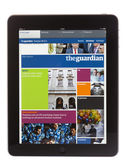 IPad Edition of the Guardian Newspaper — Stock Photo