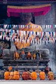 Novice monks, Angkor — Stock Photo