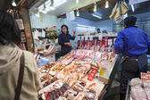 Fish Stall at Nishiki Market, Kyoto — Stock Photo