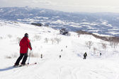 Skiers on Mount Niseko Annupri, Hokkaido, Japan — Stock Photo