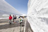 Yuki-no-ohtani valle de nieve en los alpes japoneses — Foto de Stock