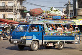 Songthaew taxi, Pakse — Stock Photo
