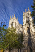 Western Front of York Minster, North Yorkshire, UK — Stock Photo