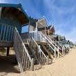 UK Beach huts — Stock Photo