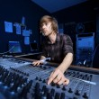 Man using a Sound Mixing Desk - Stok fotoğraf