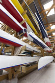 Inside a Boathouse — Stock Photo