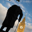 Stock Photo: Winston Churchill Statue