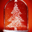 Christmas Tree Snow Globe — Stock Photo