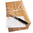 Parcel with clipping path - Stock Photo