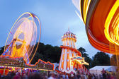 Funfair at Bristol Balloon Fiesta — Stock Photo