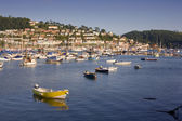 Dartmouth Estuary and Kingswear, Devon, UK — Stock Photo