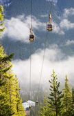 Banff Gondola Cable Cars on Sulphur Mountain — Stock Photo
