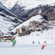 Obergurgl Ski Resort in Austria - Stock Photo