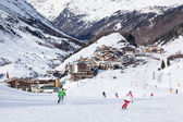 Obergurgl Ski Resort in Austria — Stock Photo
