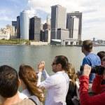 Tourists on Staten Island Ferry — Stock Photo #23033592