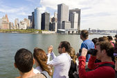 Tourists on Staten Island Ferry — Stock Photo