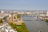 Westminster, de rivier de theems en londen — Stockfoto