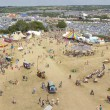 Panoramic View of the Glastonbury Festival Site — Stock Photo