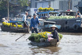 Can Tho Floating Market, Vietnam — Stock Photo