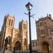 Bristol Cathedral and College Square - Stock Photo