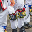 Legs of dancing morris men - Stock Photo