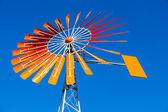Orange Windmill Against a Blue Sky — Stock Photo