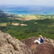 Woman on Mt Nosoko, Ishigaki - Stock Photo