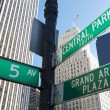 Manhattan Street Signs — Stock Photo