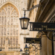 Stok fotoğraf: Bath Pump rooms and Abbey