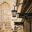图库照片: Bath Pump rooms and Abbey