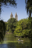 Boating in Central Park — Stock Photo