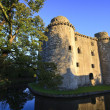 Castle and moat, Somerset, UK — Stockfoto