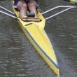 Stern of a single scull boat — Stock Photo