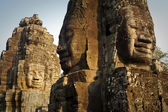 Bayon Temple Faces — Stock Photo