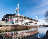 Millennium Stadium Exterior Cardiff — Stock Photo
