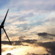 Stock Video: Wind Turbine Sunset HD
