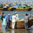 Fishermen, Mui Ne, Vietnam — Stock Photo