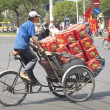 Loaded Trishaw, Ho Chi Minh City — Stock Photo