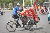 Loaded Trishaw, Ho Chi Minh City — Stockfoto