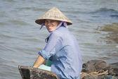 Woman smiling, Vinh Long — Stockfoto