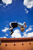 Parkour back flip — Stock Photo