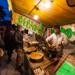 Night Stall Selling Grilled Bamboo Shoots — Stock Photo