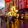 Chinatown London Night Time Lapse — Stock Video