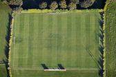 Aerial Football Pitch — Stock Photo