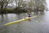Single Scull on Avon River — Stock Photo