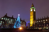 Westminster on a Christmas Night — Stock Photo