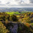 Stock Photo: Somerset Levels from Ebbor Rock, UK